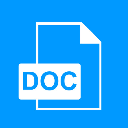 deploy: File document icon. Download doc button. Vector
