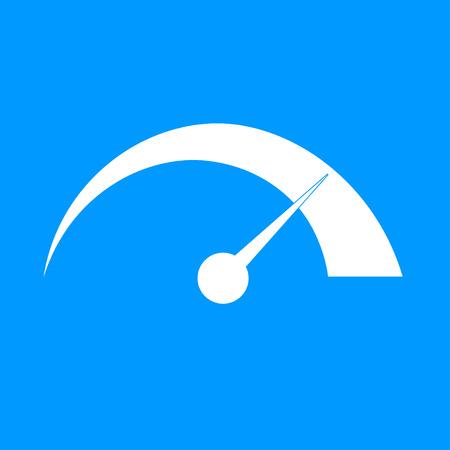 벡터 속도계 아이콘 평면 디자인 스타일