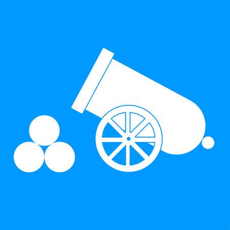 cannonball: retro cannon Flat design style eps 10 Illustration