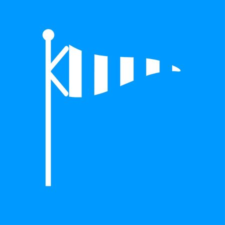 windsock: Wind Speed Flag. Single flat color icon.