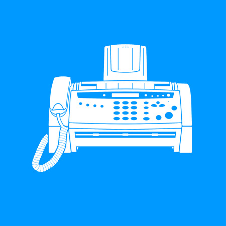 fax machine: Fax machine icon, vector
