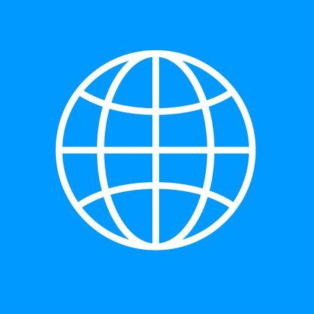 mankind: World Globe Icon, pictogram icon. Flat design style