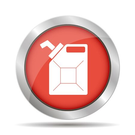jerry: Jerry can oil vector icon Illustration