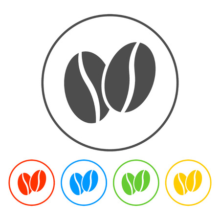 コーヒー豆  イラスト・ベクター素材