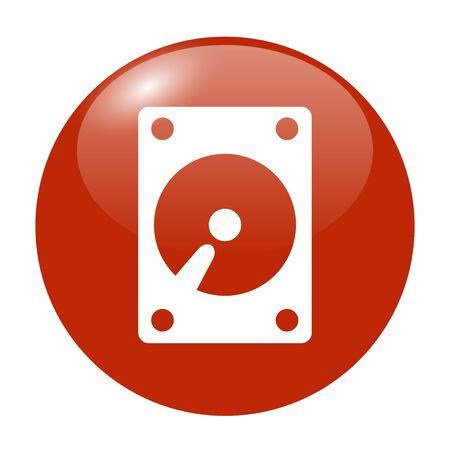 sata: hard disk icon. Flat design style