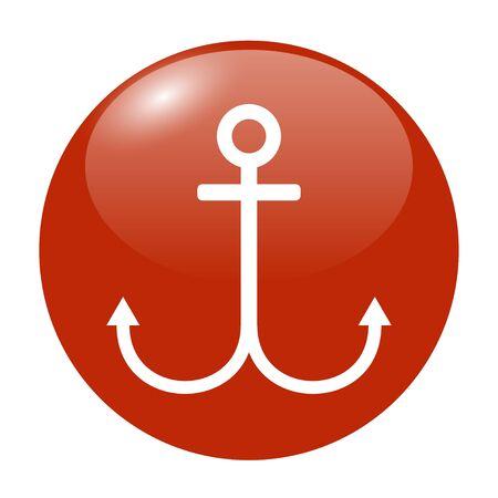 anchored: Anchor symbol. Flat design style Illustration