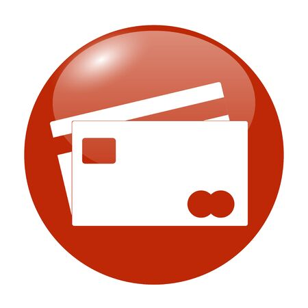 transact: Credit Card Icon. Flat design style eps 10 Illustration