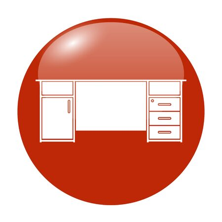 icon red: table icon, isolated vector eps 10 illustration
