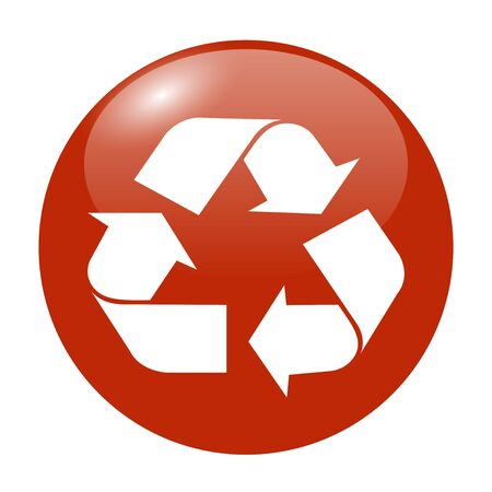 white color: Recycle sign in white color - isolated. EPS