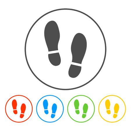 Imprint soles shoes icon.shoes print icon.vector illustration.