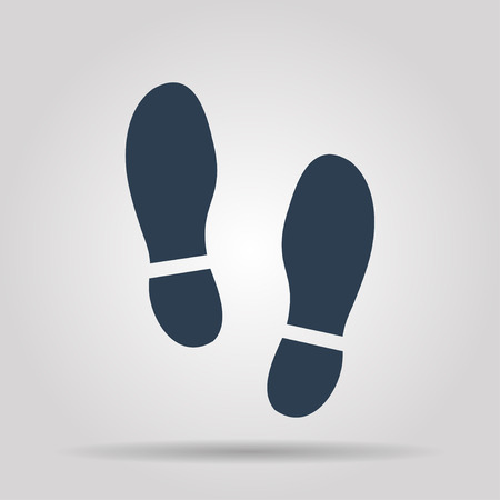 flat shoes: Imprint soles shoes icon.shoes print icon.vector illustration.