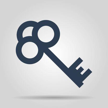 unblock: Key vector icon Flat design style