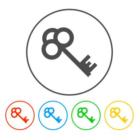 Key vector icon. Flat design style eps 10 Vettoriali