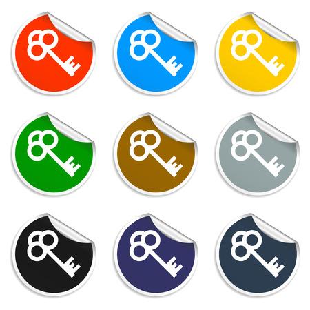 unblock: Key vector icon.