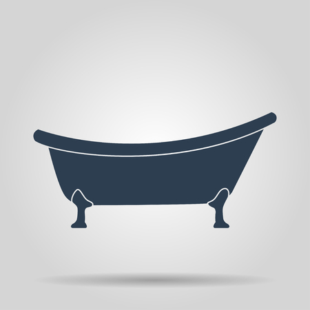 bath room: Bathtub Icon. Flat design style eps 10