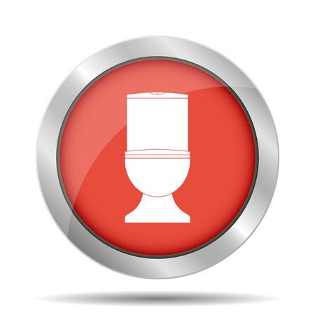 Toilet icon. Flat design style eps 10