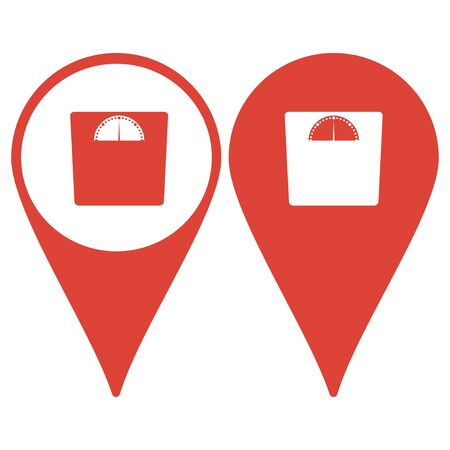 watcher: Map pointer. weighting icon. Vector illustration EPS 10 flat