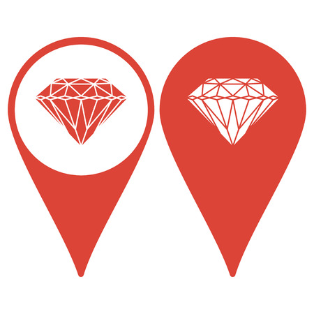 spoil: Map pointer. Diamond icon - Vector illustration EPS 10 flat