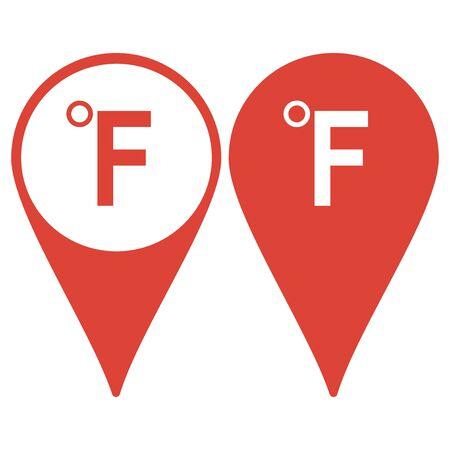 fahrenheit: Vector icon Fahrenheit. Flat design style eps 10 Illustration