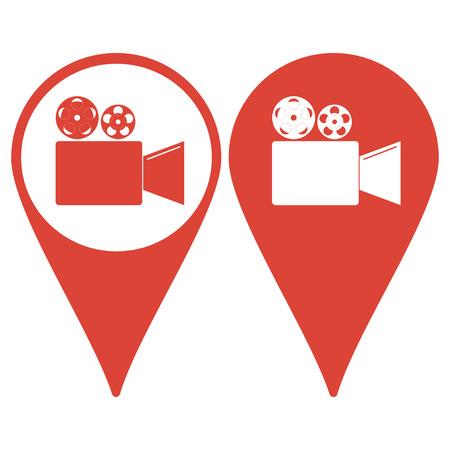 Cinema camera icon. Flat design style eps 10 Illustration
