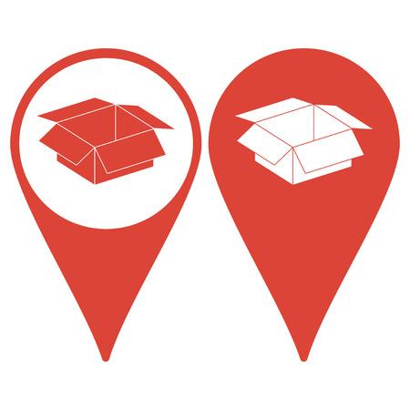 stockpile: box vector illustration. Flat design style eps 10 Illustration