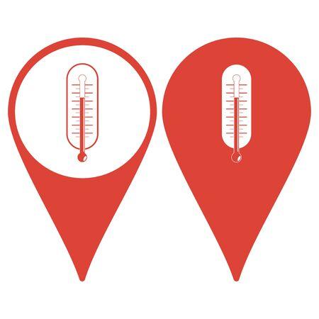 coolness: thermometer icon illustration Illustration
