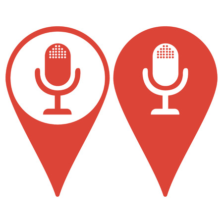 voices: microphone web icon Illustration