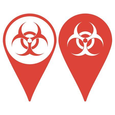 hazard: Bio hazard icon Illustration