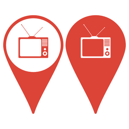 optical image: Map pointer with TV icon