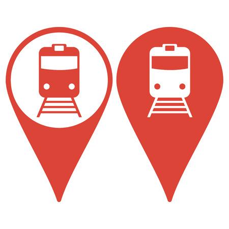 Puntero del mapa con el icono de tren