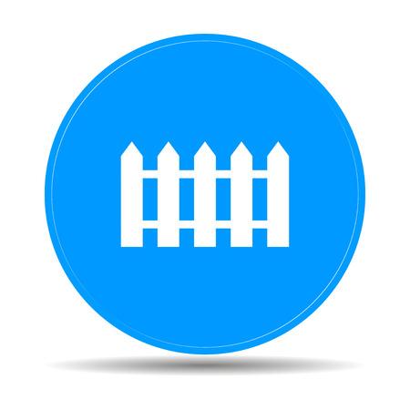 fence icon. Flat design style eps 10