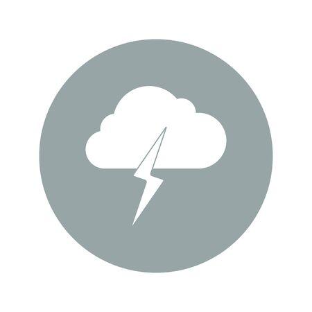 electrocute: Lightning bolt weather flat line icon infographic illustration template for web or brochure. Vector illustration.