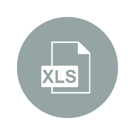 xls: xls icon. Flat design style eps 10