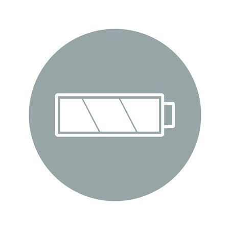 watts: Battery icon. Flat design style eps 10