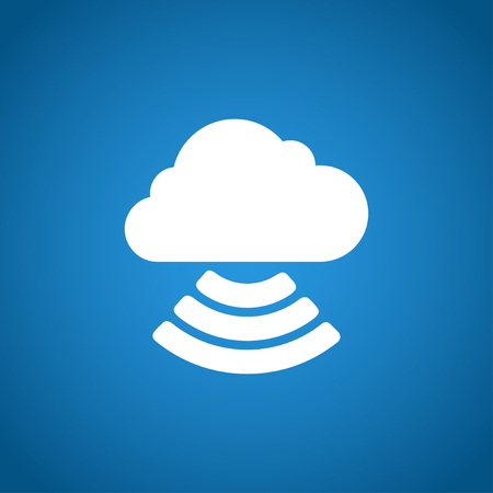 cloud icon: cloud icon, flat vector illustration. EPS 10 Illustration