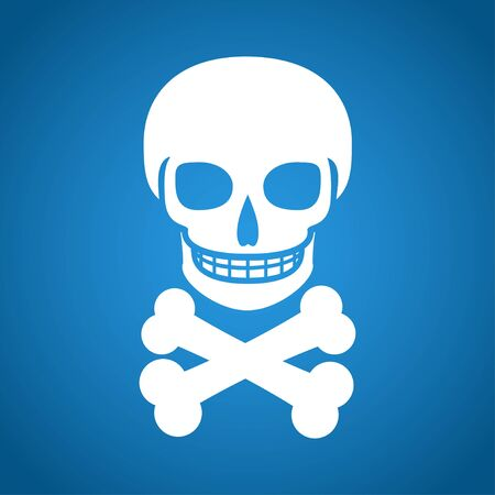 skull icon: Skull icon isolated. Flat design style eps 10