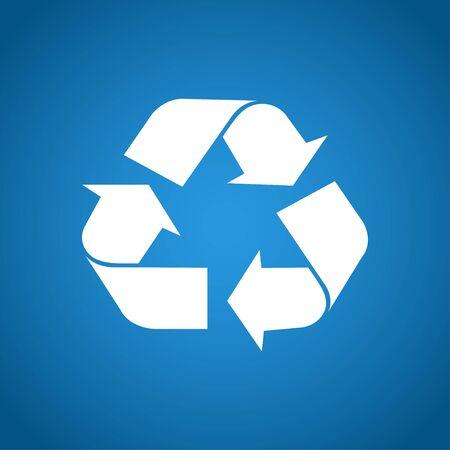 reciclar: Recicle la muestra en el color blanco - aislado. EPS