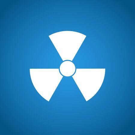 emanation: radiation symbol. Flat design style eps 10 Illustration
