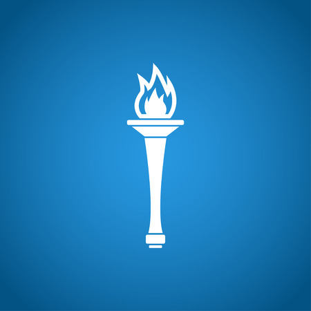 flaming torch: Torch icon - Vector Illustration EPS 10. Flat design style Illustration