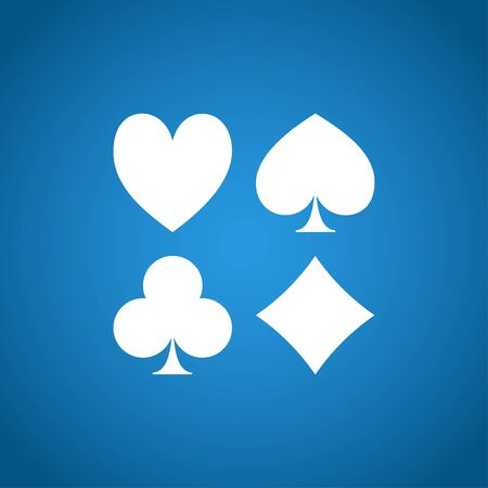 card suit: Vector Playing Card Suit Icon Symbol Set