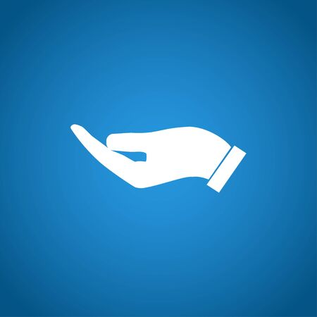 www arm: Vector protecting hands icon, isolated illustration   Illustration