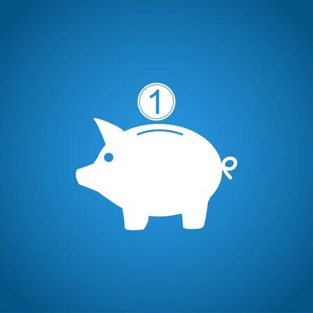 piggy: Vector piggy bank icon. Flat Vector illustration