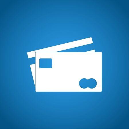 transact: Credit Card Icon. Flat design style  Illustration