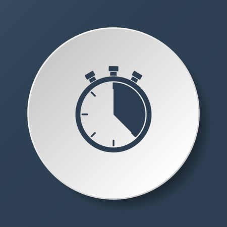 stop watch: Stopwatch icon, vector illustration. Flat design style