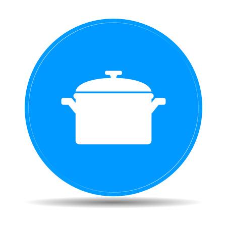saucepan: Saucepan icon. Flat design style