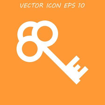 unblock: Key vector icon. Flat design style eps 10 Illustration