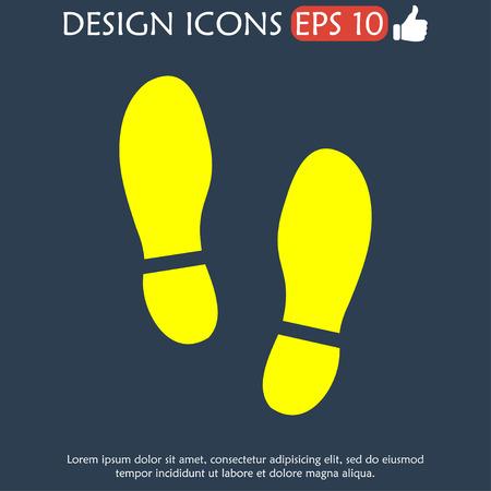 shoeprint: Imprint soles shoes icon.shoes print icon.vector illustration.