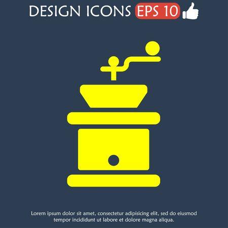 młynek do kawy: Coffee grinder.  Flat design style eps 10 Ilustracja