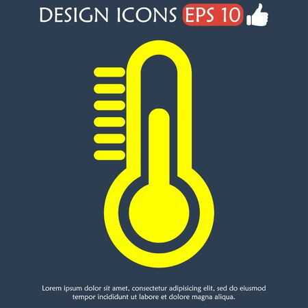 volumetric flask: Thermometer icon. Flat design style eps 10
