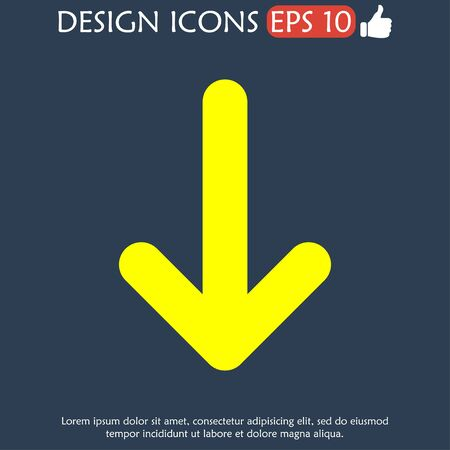 top pointer: Vector icon arrow. Flat design style eps 10